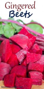 Fresh chopped beets to make Gingered Beets