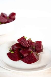 Gingered Beets topped with green parsley
