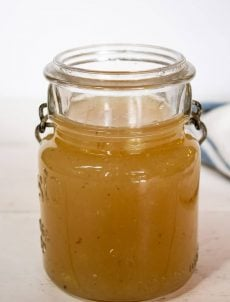 Instant Pot Bone Broth in an old canning jar