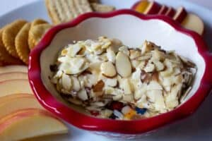 Goat cheese with almonds and honey.