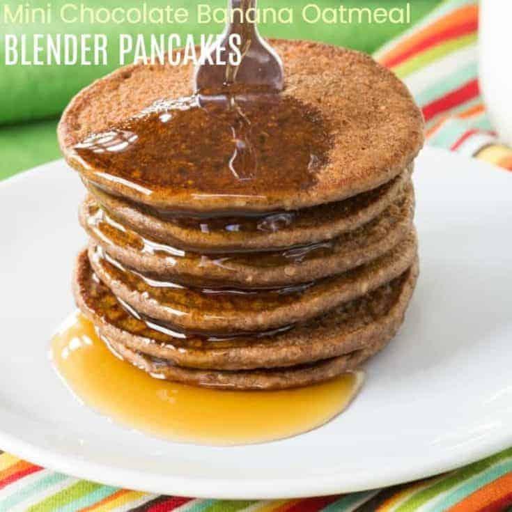 Chocolate Banana Oatmeal Pancakes Recipe
