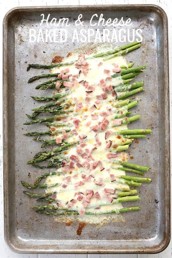 Ham and Cheese Baked Asparagus - Keto Side Dish