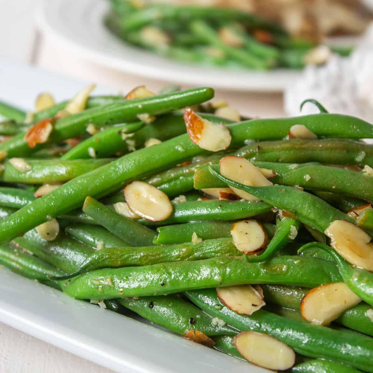 Green Bean Almondine Beyond The Chicken Coop