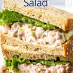 A sandwich filled with finely chopped ham with mayonnaise and lettuce.